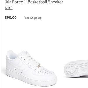 Nike Air Force 1 Sz 7Y white
